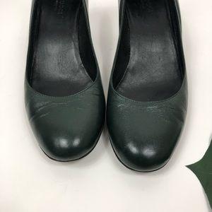 Gucci Shoes - GUCCI Kitten Wedge Green Heels